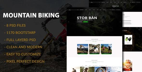 Mountain Biking PSD Template - Travel Retail