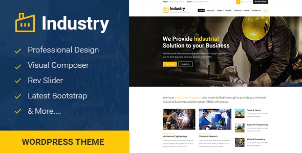 Industry - Factory Business WordPress Theme - Business Corporate