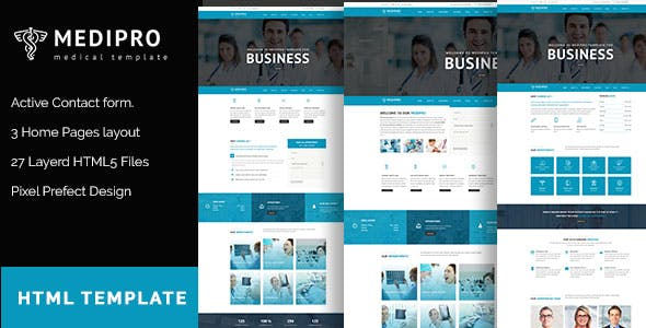 MediPro - Health & Medical HTML5 Responsive Template