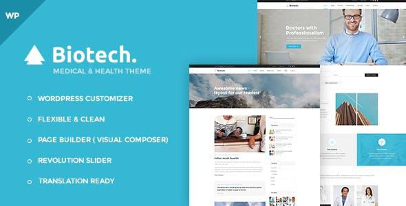 Biotech - Flexible Medical and Health WordPress Theme