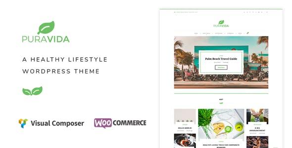 PuraVida - A Healthy Lifestyle WordPress Theme
