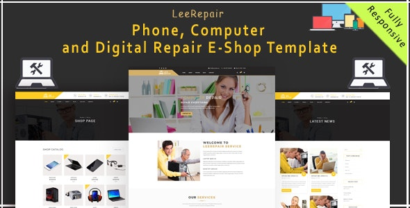 leeRepair - Mobile, Computer, Electronic and Digital Repair E-Shop HTML5 Template - Computer Technology