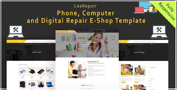 leeRepair - Mobile, Computer, Electronic and Digital Repair E-Shop HTML5 Template