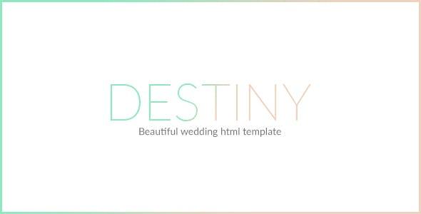 DESTINY - WEDDING HTML TEMPLATE