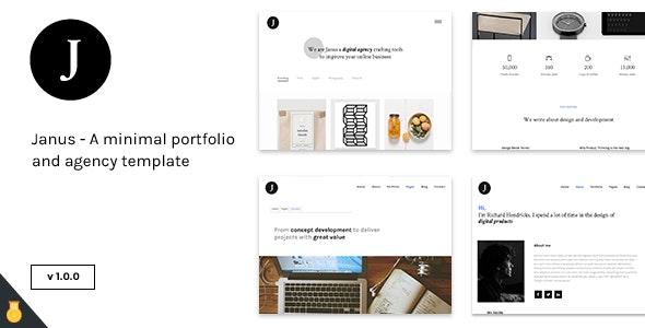 Janus - A minimal portfolio and agency template - Portfolio Creative