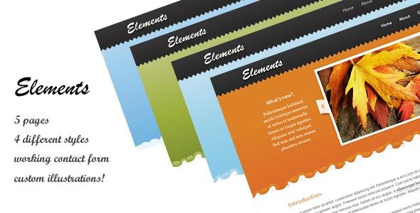 Elements Site Template - Creative Site Templates