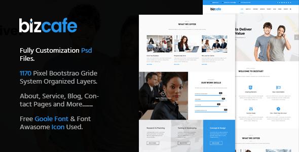 Bizcafe Corporate Psd Template - Business Corporate