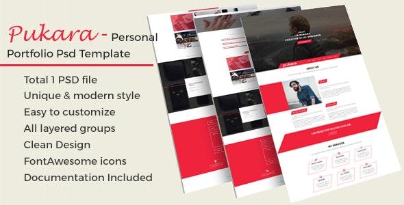 Pukara Personal Portfolio PSD Template - Portfolio Creative