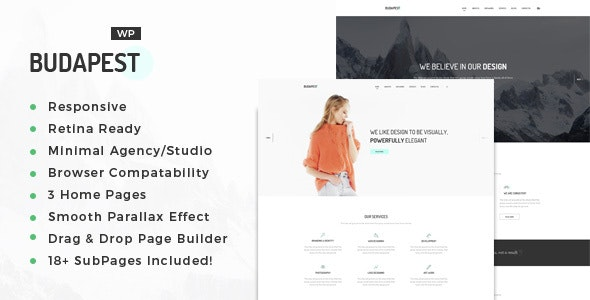 Budapest – Minimal Multi-Purpose Portfolio WordPress Theme - Portfolio Creative