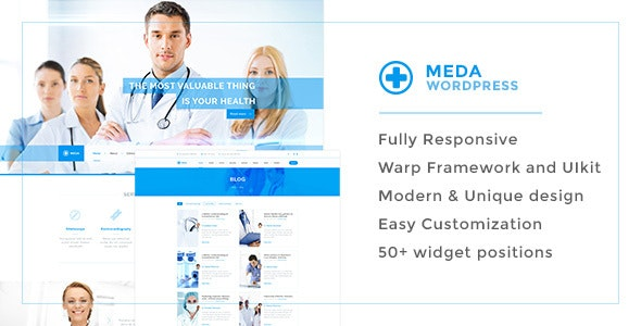 Meda — Health and Medical Responsive WordPress Theme For Hospitals, Doctors, Clinics & Blogs - Health & Beauty Retail