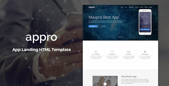 Appro – App Landing Page HTML Template - Technology Site Templates