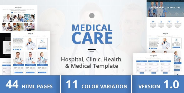 Medical Care - Hospital, Clinic, Health & Medical Template - Health & Beauty Retail