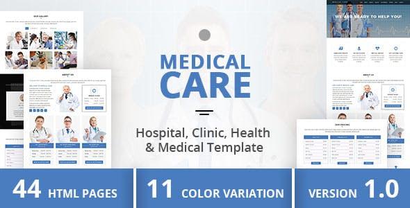 Medical Care - Hospital, Clinic, Health & Medical Template
