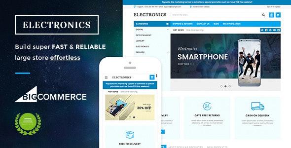 Electronics Supermarket Responsive BigCommerce Theme - BigCommerce eCommerce