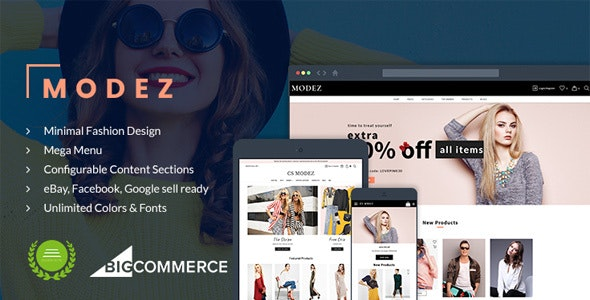 Modez - Minimal Fashion Responsive BigCommerce Theme - BigCommerce eCommerce
