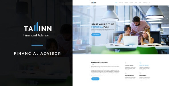 Business Finance and Consultancy HTML Template - Tallinn - Corporate Site Templates