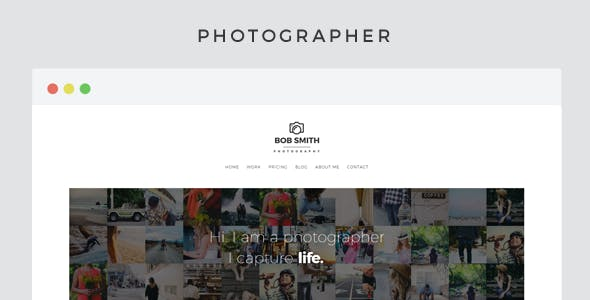 Photographer - A WordPress Photography Theme For Photographers