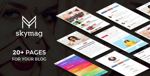 Skymag - News & Magazine Mobile Template - Mobile Site Templates
