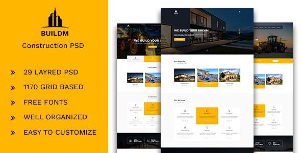 Buildm - Construction PSD Template - Corporate Photoshop