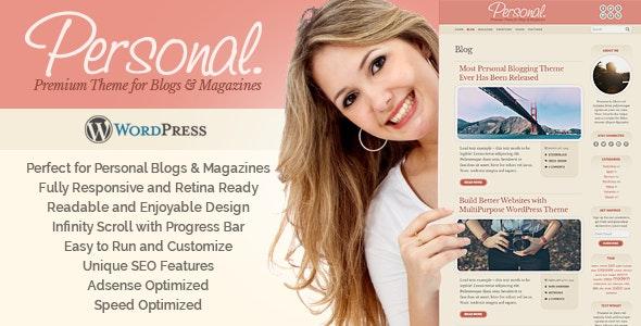 Personal WordPress Theme - Personal Blog / Magazine