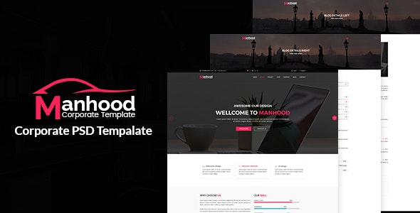 Manhood- Corporate PSD Template - Business Corporate