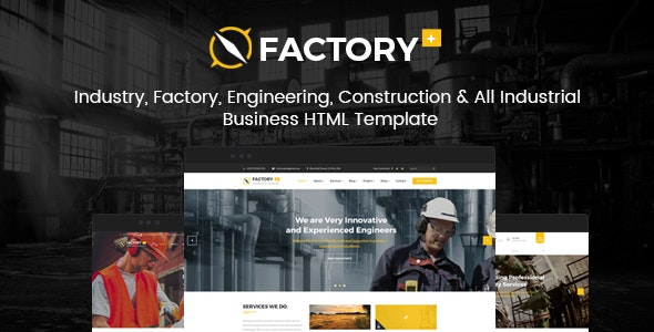 Factory Plus - Industry and Construction HTML Template - Business Corporate