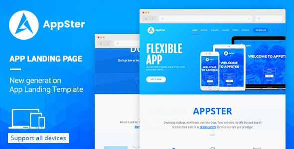 Appster - Landing Page Muse Template - Landing Muse Templates