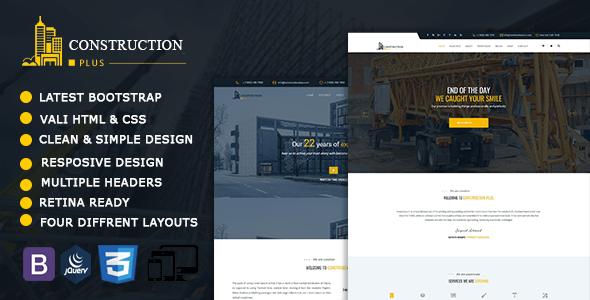 Construction Plus - Construction, Building & Maintenance Business Template - Business Corporate