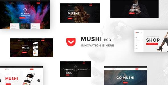 Multipurpose Psd Template - Mushi - Corporate Photoshop