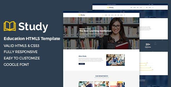 Education HTML Template - Study