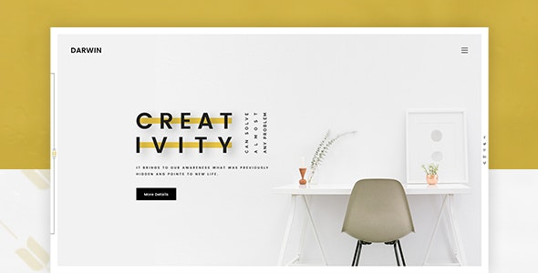 Darwin | Creative Portfolio PSD Template - Creative Photoshop