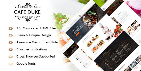 Cafe-Duke - Restaurant HTML5 Template - Restaurants & Cafes Entertainment