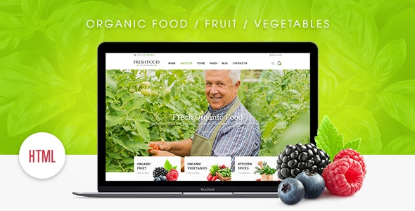 Fresh Food – Organic Food/Fruit/Vegetables eCommerce HTML Template - Retail Site Templates