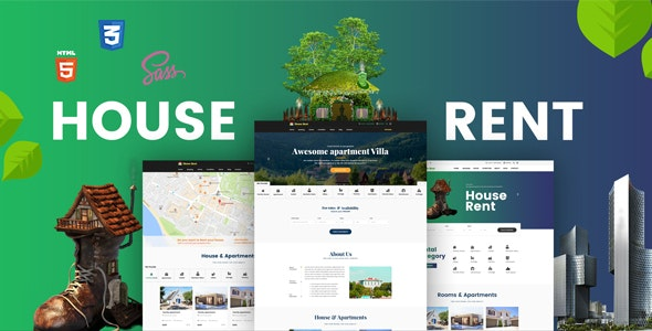HouseRent - Multi Concept House, Apartment Rent HTML Template - Miscellaneous Site Templates