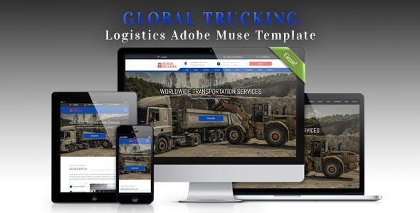 GLOBAL TRUCKING - Logistics Adobe Muse Template