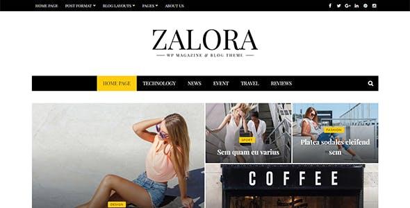 Zalora - Responsive Fashion Magazine Blog Theme
