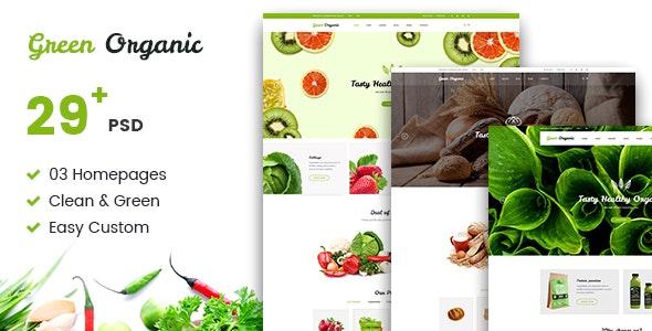 Green Organic - Organic Store & Bakery PSD Templates - Food Retail