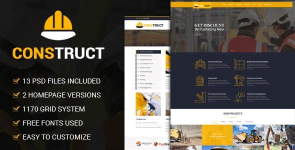 Construct - Constrcution PSD Template - Miscellaneous Photoshop