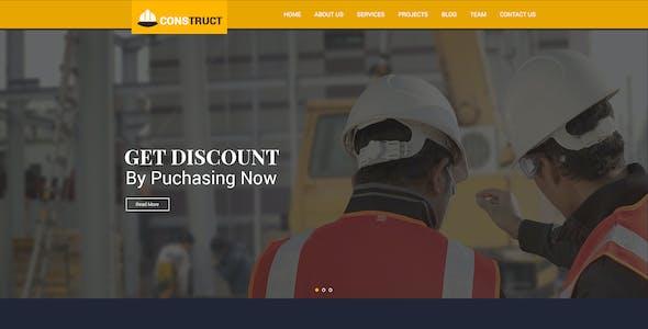 Construct - Constrcution PSD Template