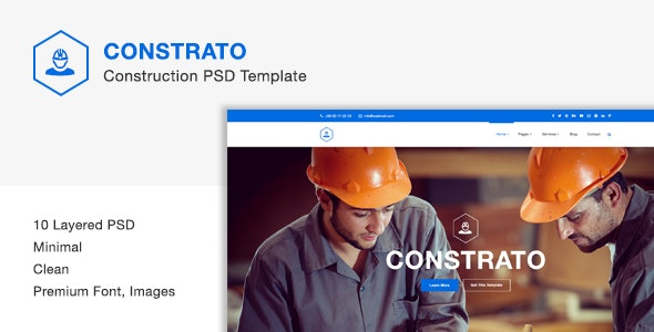 Constrato Construction PSD Template - Business Corporate