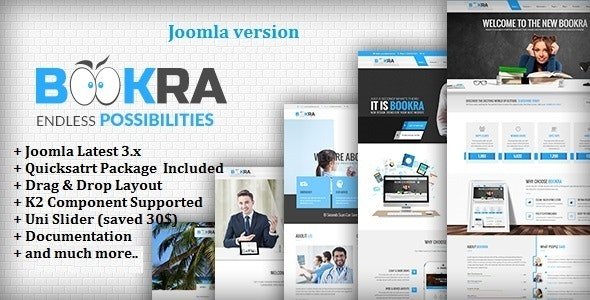 BOOKRA   Multi-Purpose Joomla Template - Corporate Joomla