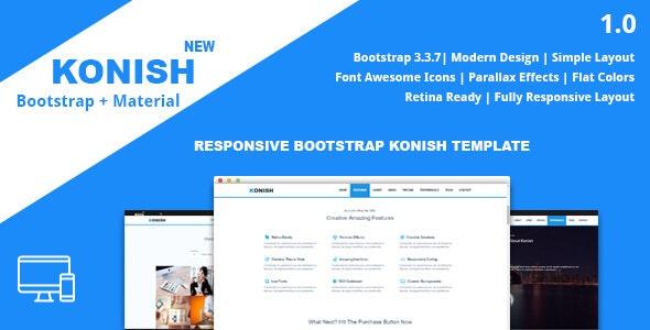 Konish - Landing Page HTML5 Template - Portfolio Creative