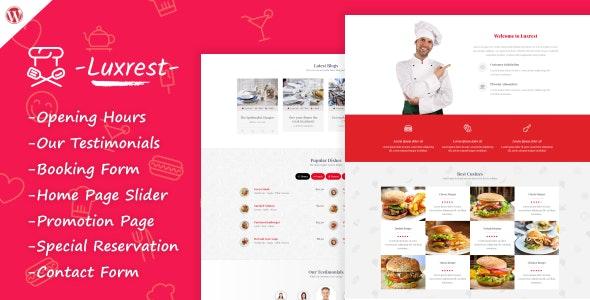 Luxrest - Restaurant & Cafe Theme - Restaurants & Cafes Entertainment