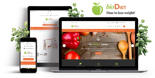 BioDiet - Nutrition & Weight Loss WordPress Theme - Health & Beauty Retail