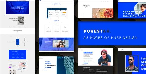 PureStar - MultiPurpose Adobe Muse Template - Creative Muse Templates