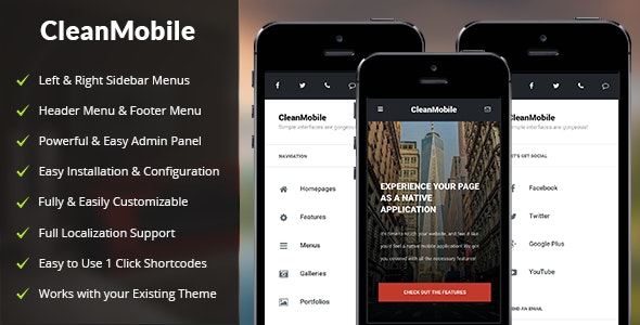 Clean Mobile WordPress Theme by Enabled | ThemeForest