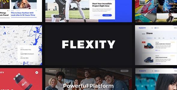 Flexity - Multi-Purpose PSD Template - Corporate Photoshop