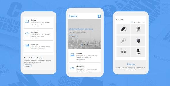 Purasa – Responsive Mobile Template - Mobile Site Templates
