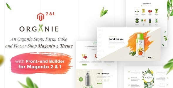 Organie - An Organic Store, Farm, Cake and Flower Shop Magento 2 and 1 Theme - Health & Beauty Magento