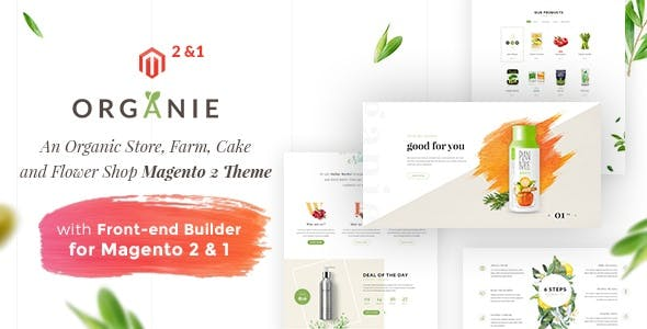 Organie - An Organic Store, Farm, Cake and Flower Shop Magento 2 and 1 Theme